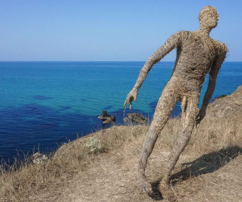 Near the beach of the Black sea you can see interesting art project
