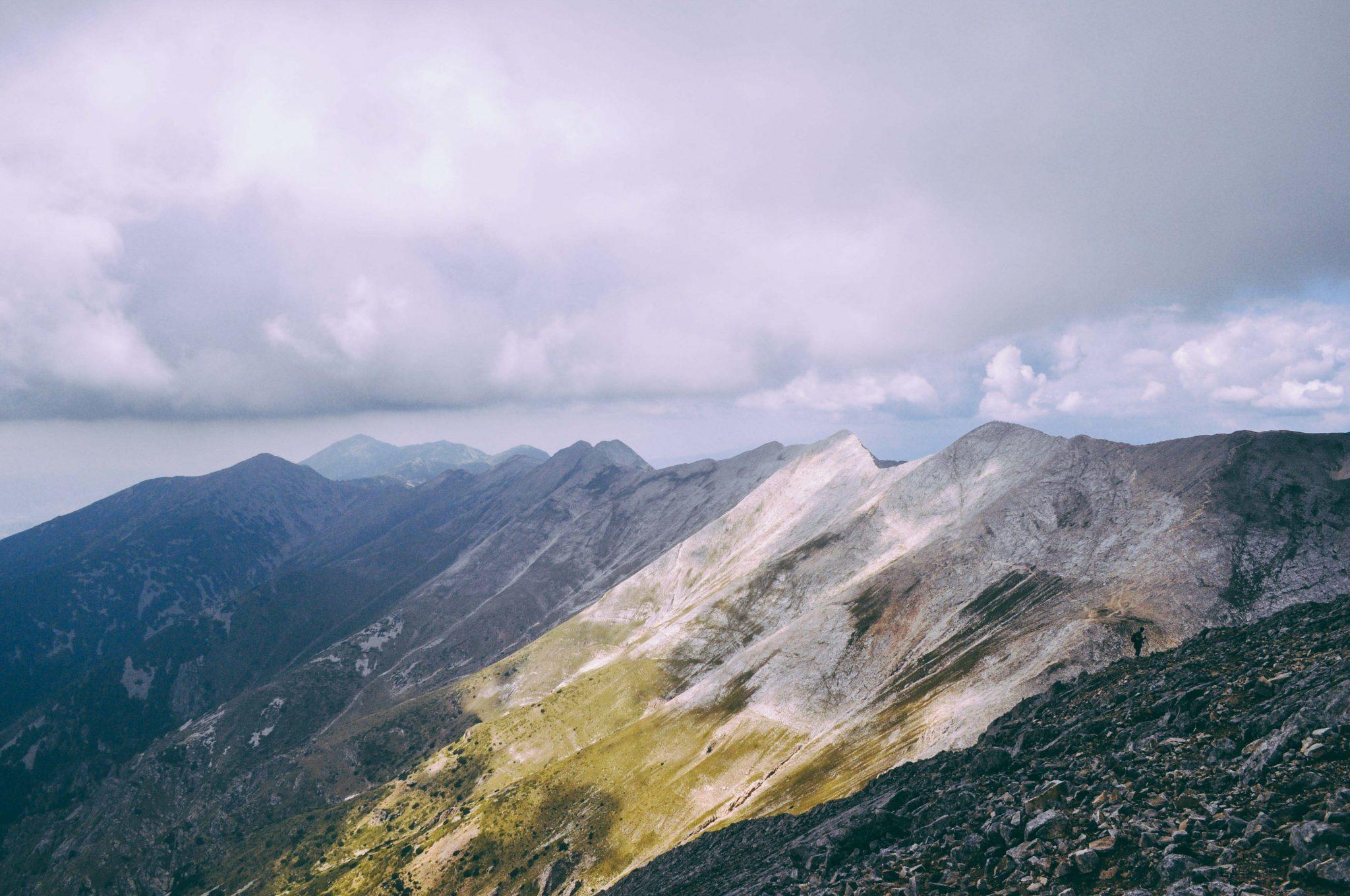 Unique view of mountan-peaks Vihren