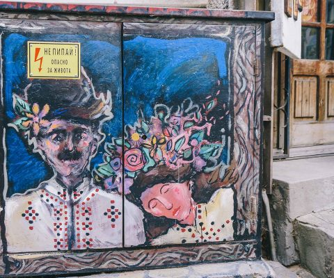 folklore traditions on street transformer
