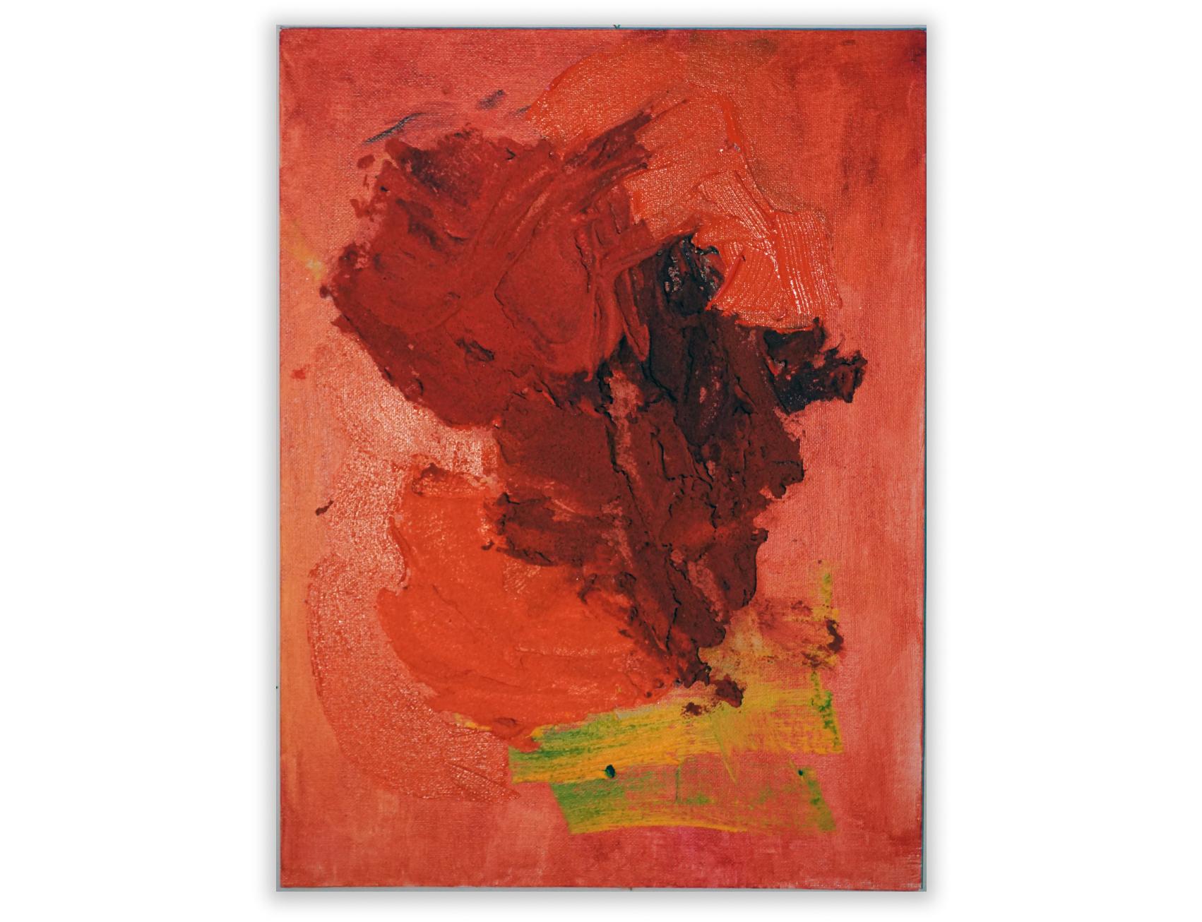 """ShrineAcrylic and sand on canvas board 12"""" x 16"""""""