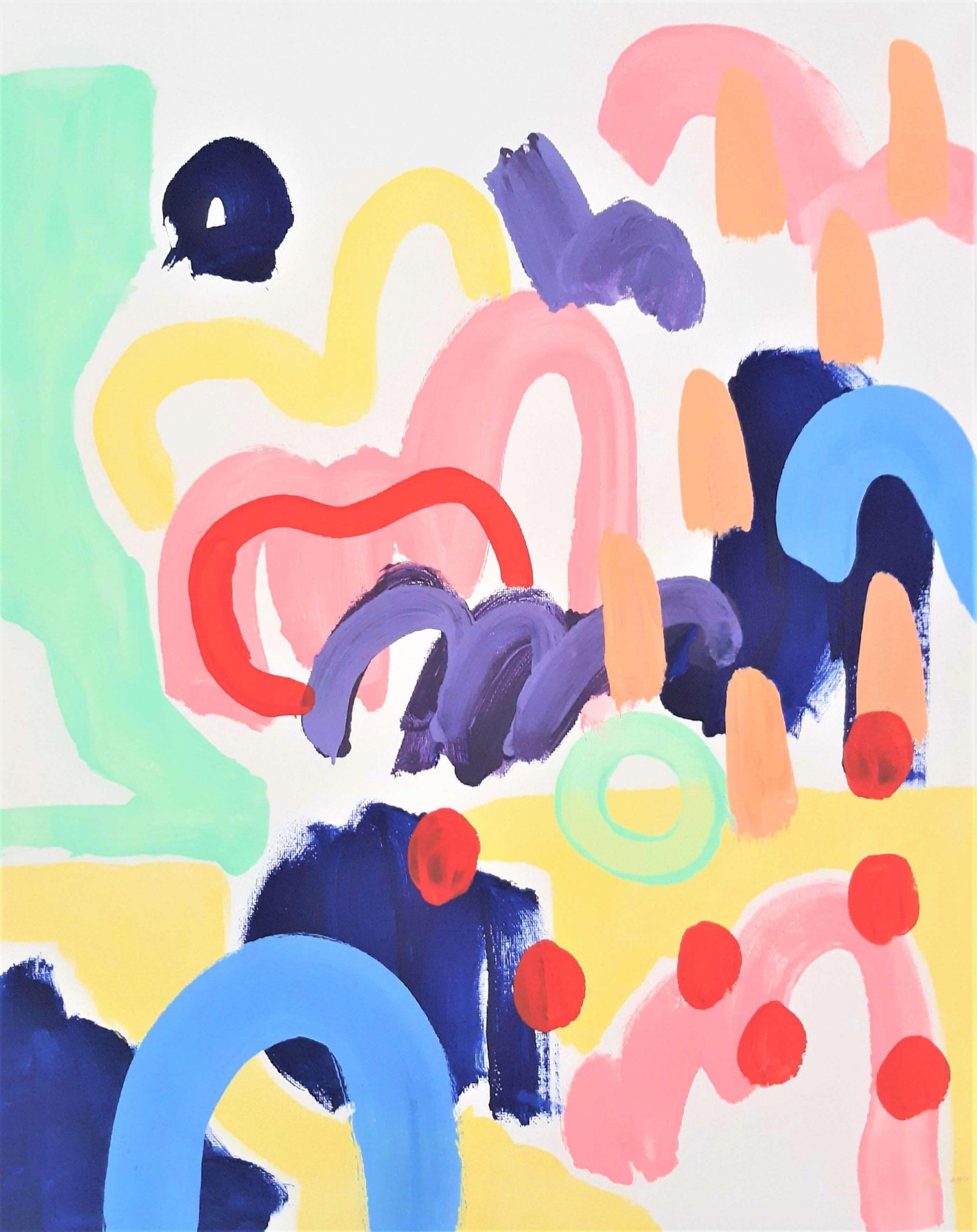 MaiaAcrylic on gesso primed canvas 50cm x 40cm