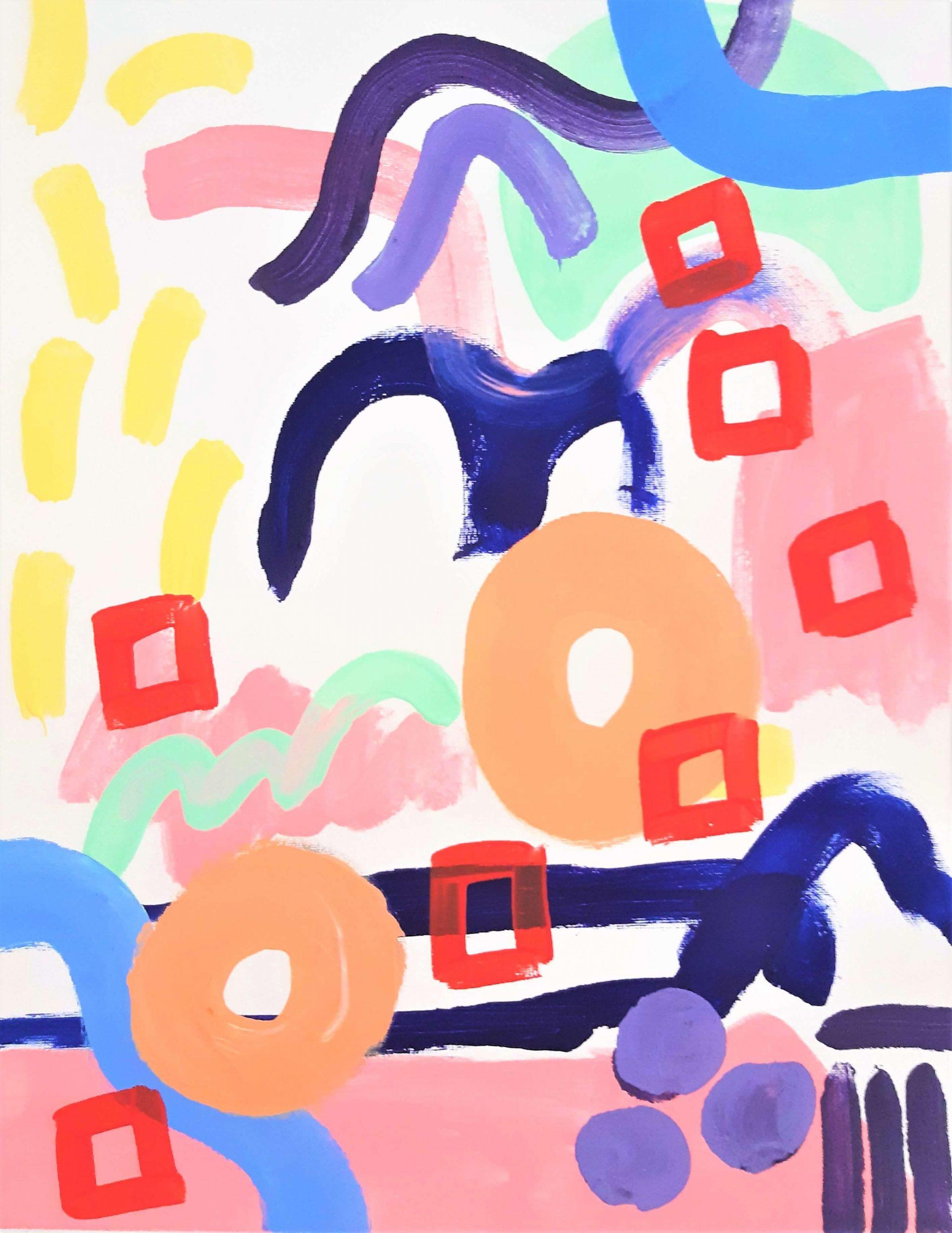 AlcyoneAcrylic on gesso primed canvas 50cm x 40cm