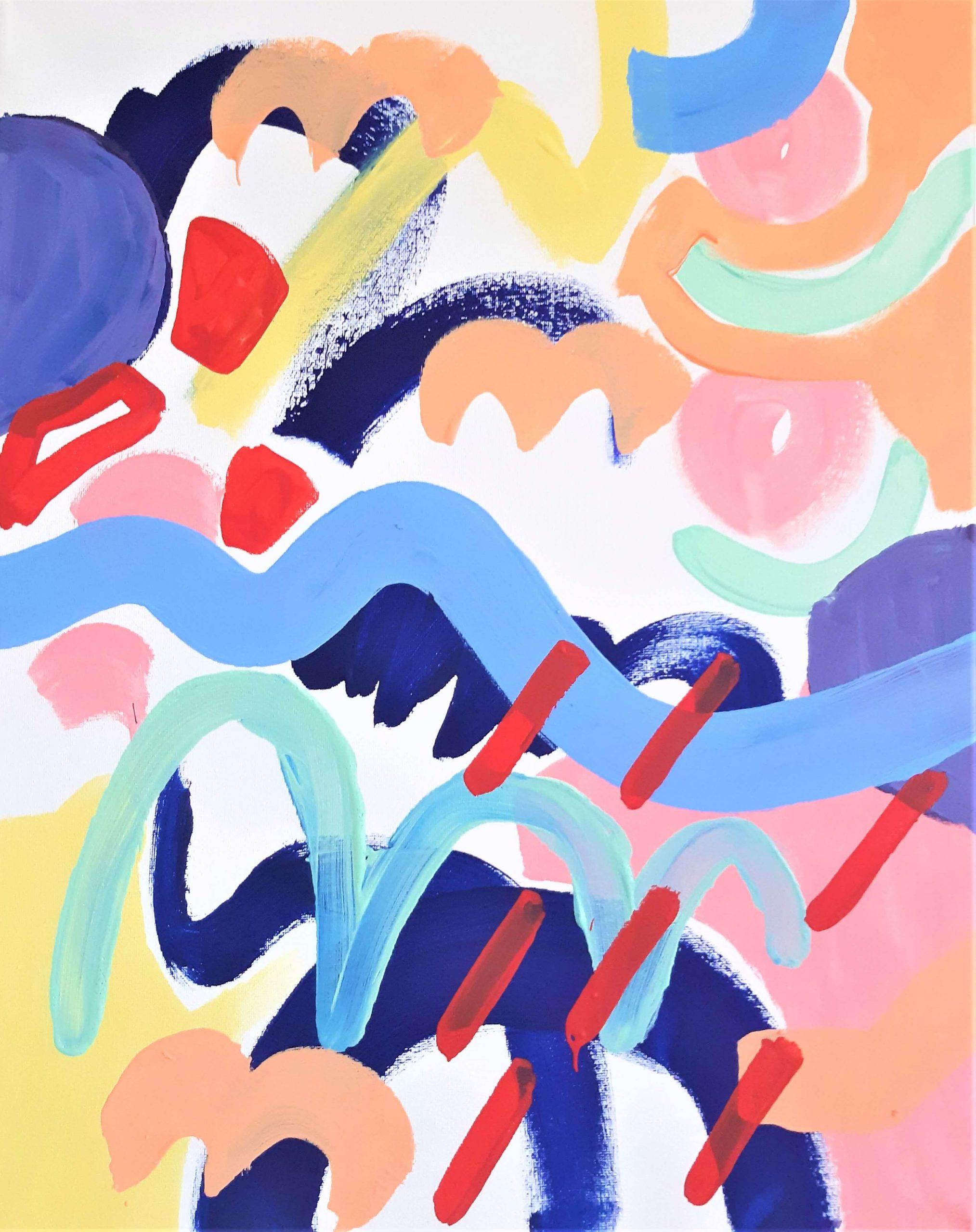 CelaenoAcrylic on gesso primed canvas 50cm x 40cm