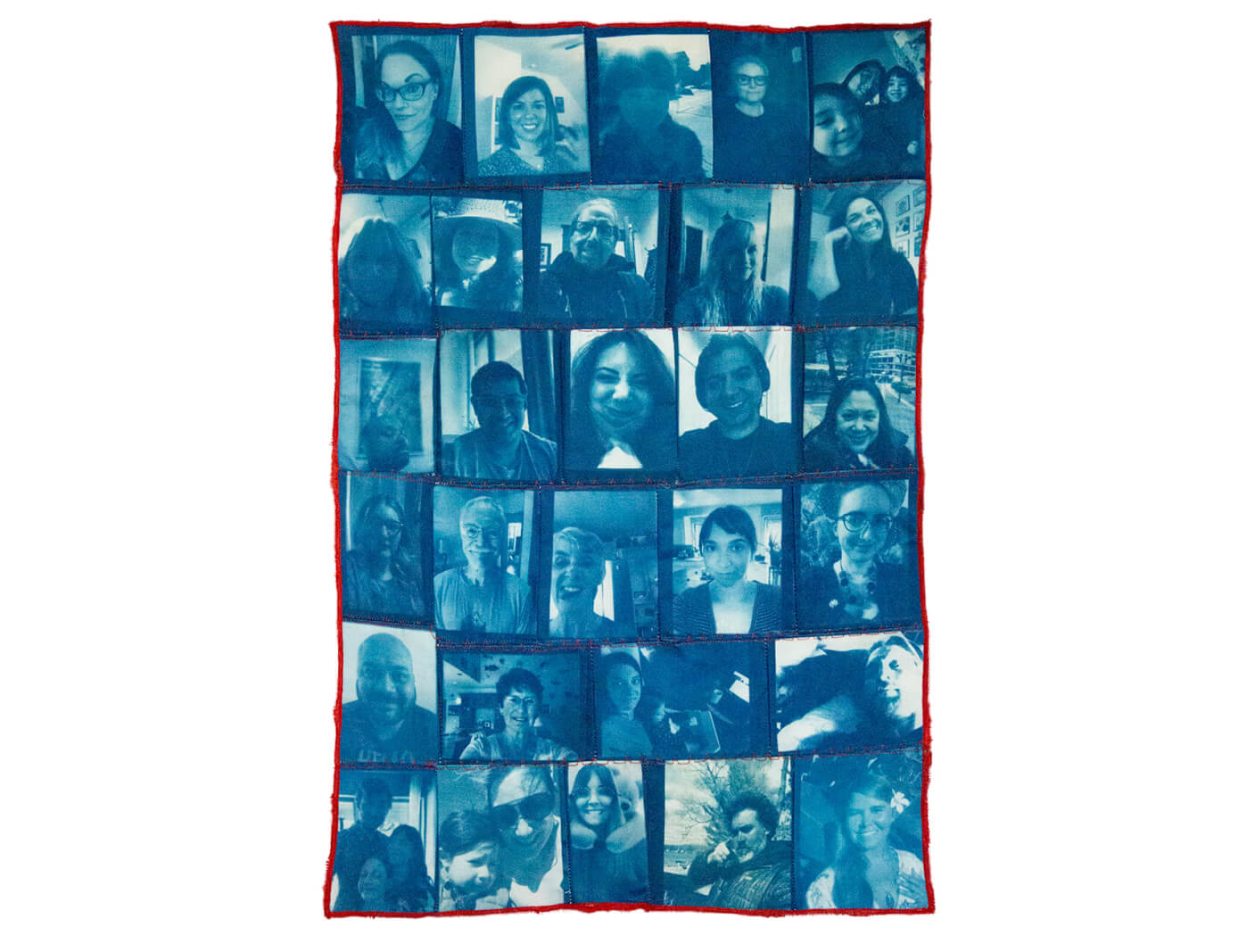 """I miss your faces tapestry14.5"""" x 22"""""""