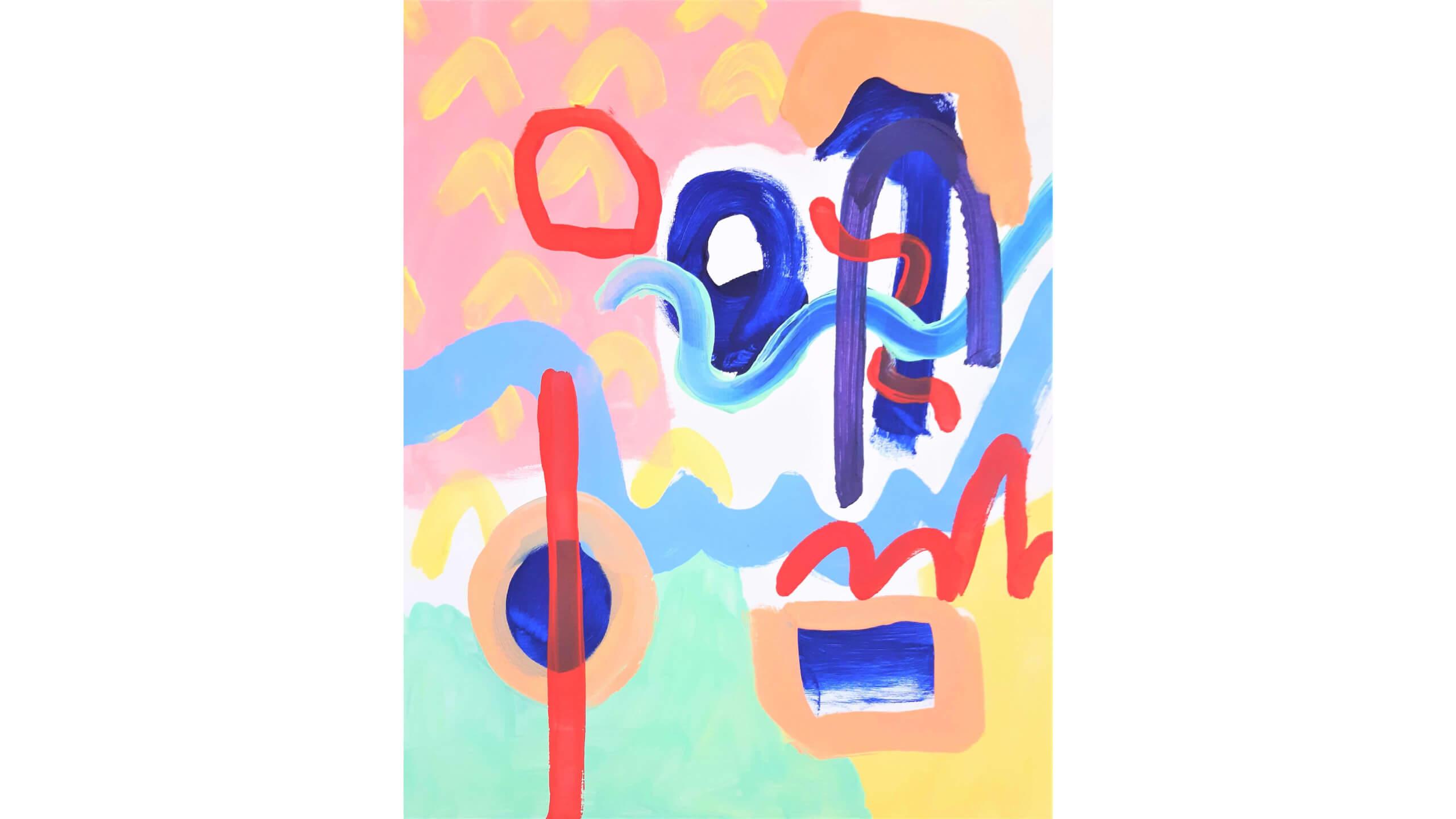 MeropeAcrylic on gesso primed canvas 50cm x 40cm